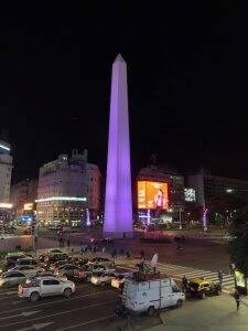 O Obelisco em Buenos Aires