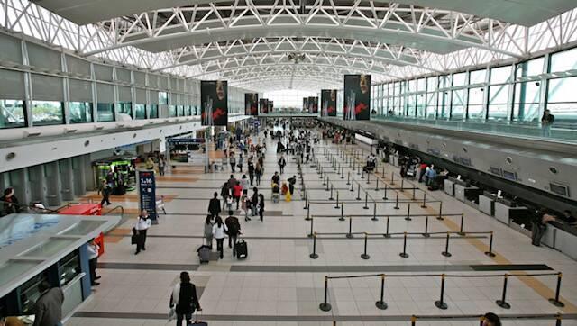 O aeroporto de Buenos Aires.