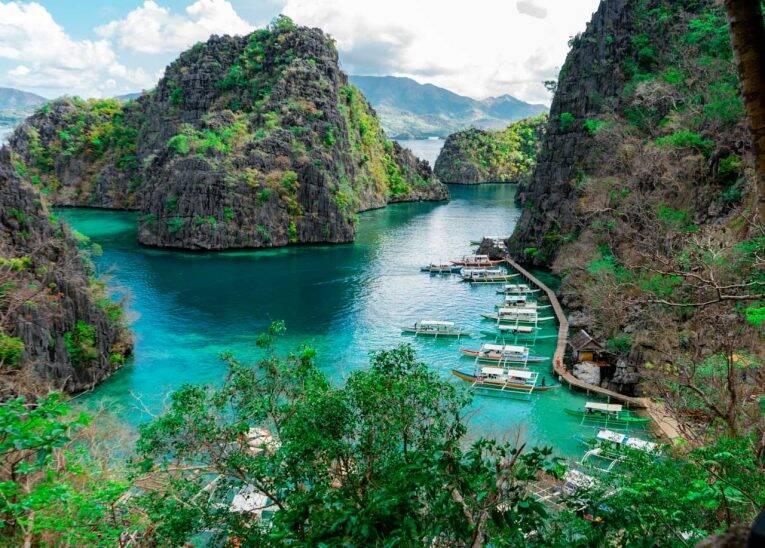 Kayangan Lake em Coron, Filipinas