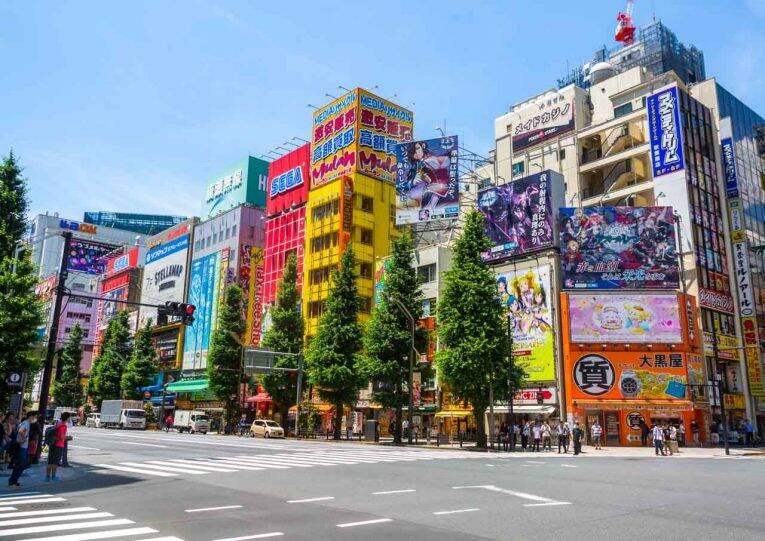 O lugar dos eletrônicos em Tóquio, Akihabara.