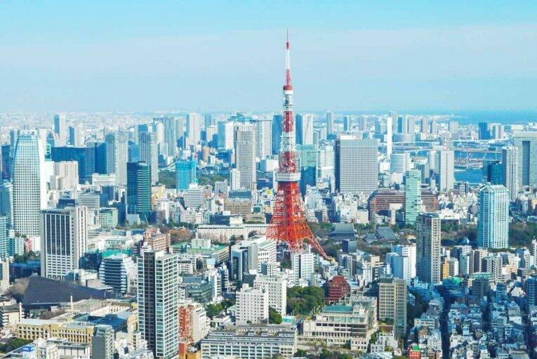 Tokyo Tower vista de longe