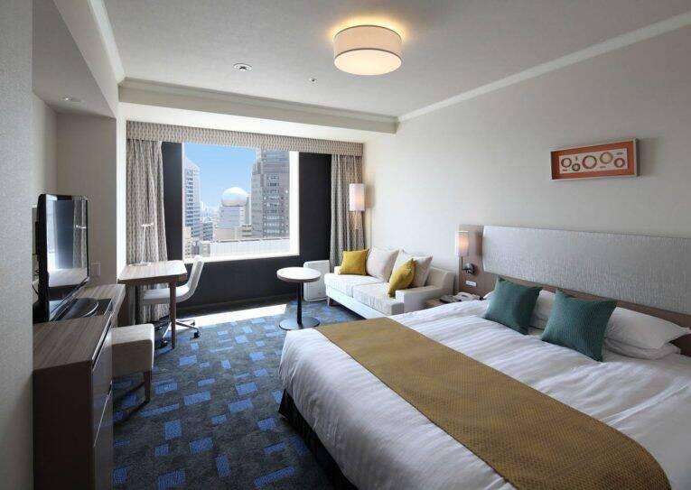 Quarto do Shibuya Excel Hotel com vista para a região de Shibuya, na cidade de Tóquio | Foto: divulgação/booking