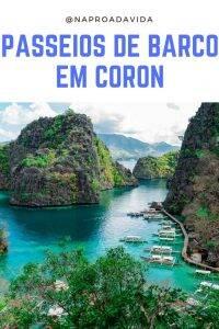 passeio de barco em Coron