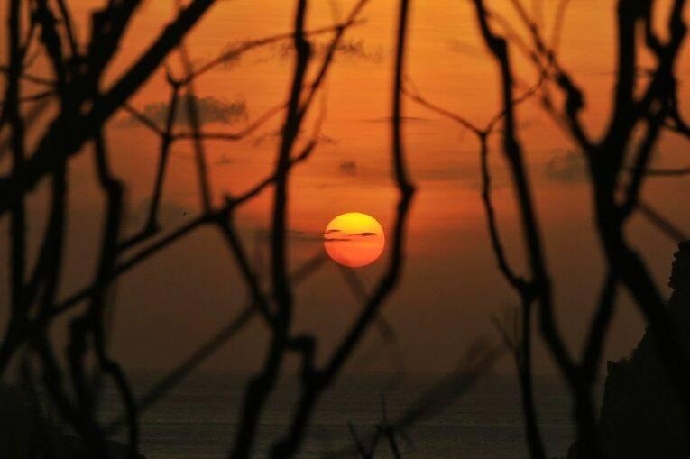 Por do sol Visto do Mirante da Praia do Bode