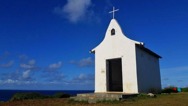 Capela de São Pedro dos Pescadores em Noronha.