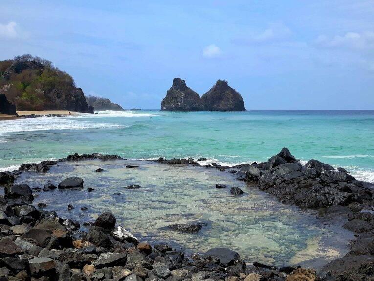 Piscina natural da Praia do Bode. | Foto: Beatriz/ @bmargonari