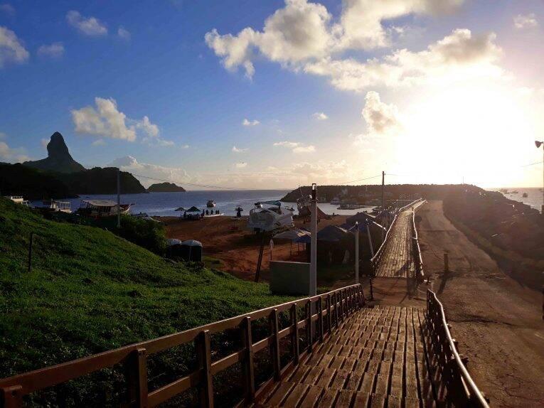Vista do Alto do Porto de Fernando de Noronha.
