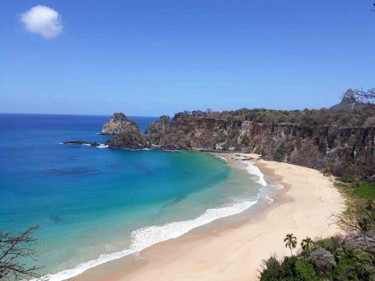 Vista da Trilha da Praia do Sancho em Fernando de Noronha