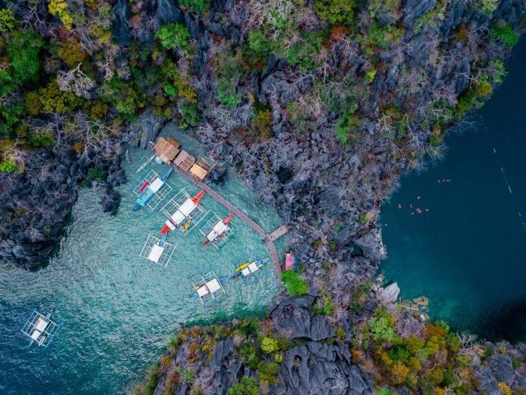 Barracuda Lake em Coron, nas Filipinas
