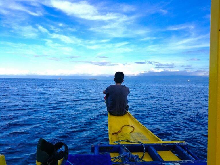 Passeio de barco em Moalboal, nas Filipinas