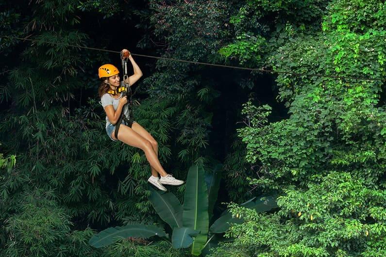 A tirolesa Flight of the Gibbon em Chiang Mai. | Foto: divulgação