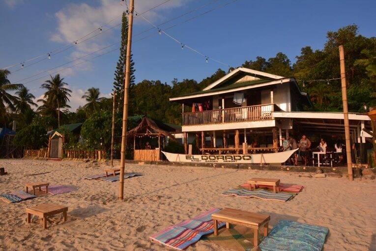 Beach Front do Eldorado em Port Barton, Filipinas. | Foto: divulgação.