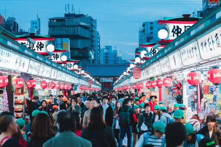 Mercado em frente ao Sensiji Temple, em Asakusa.