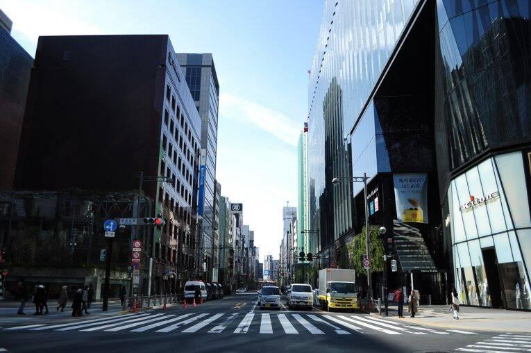 As ruas mais tranquilas de Ginza, Tóquio.