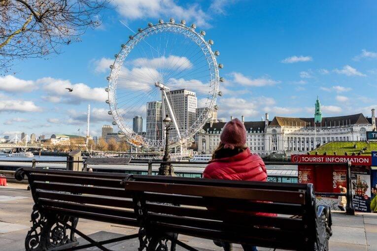 custa viajar para Londres. London Eye
