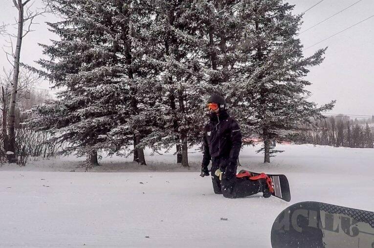 Snowboard no Canada: Holiday Mountain Resort