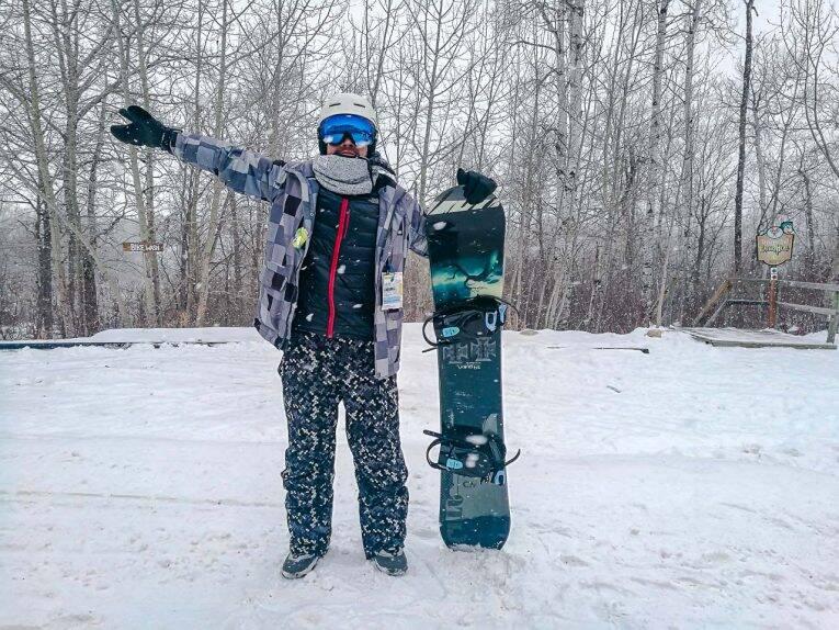 Roupas de ski ou snowboard