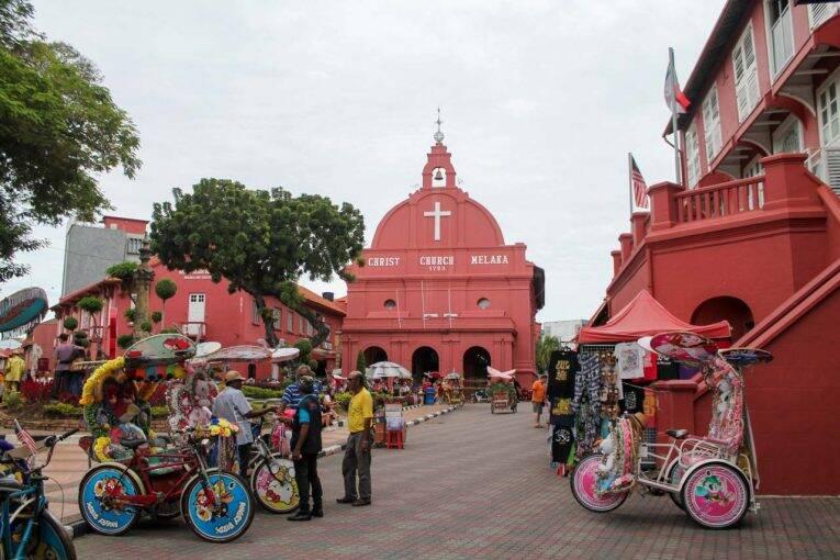 Malacca, um dos patrimônios mundiais da UNESCO na Malásiaa