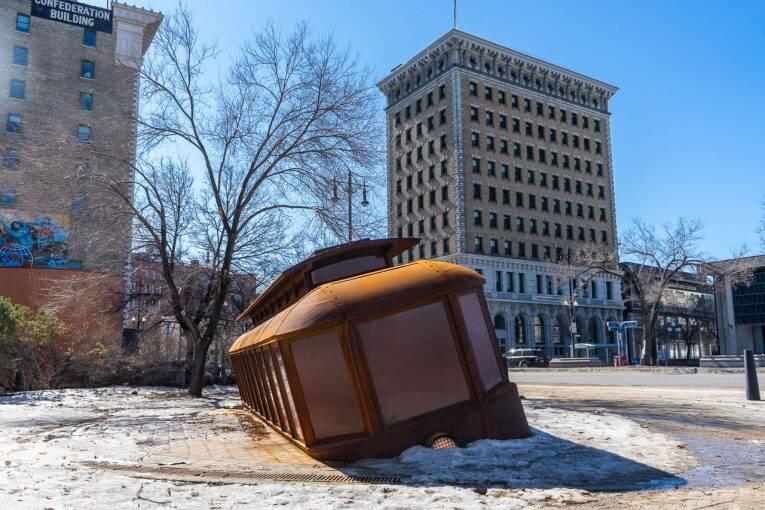 Memorial no centro de Winnipeg.
