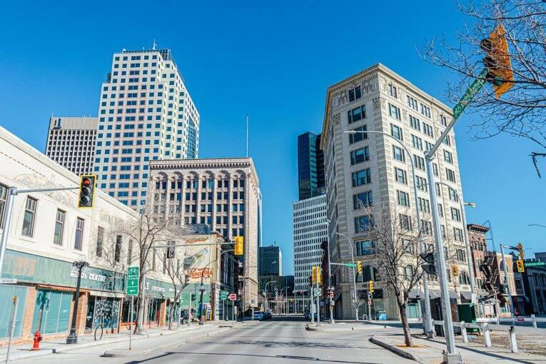 Região central de Winnipeg, também conhecida como Exchange District. | Foto: Bruno/@naproadavida
