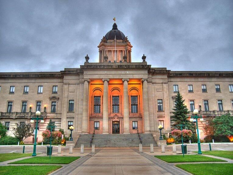 O edifício do Legislativo de Manitoba, em Winnipeg.