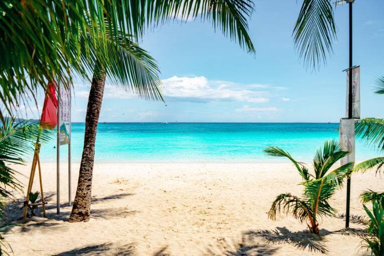 White beach, uma das praias mais lindas que visitamos nas Filipinas.