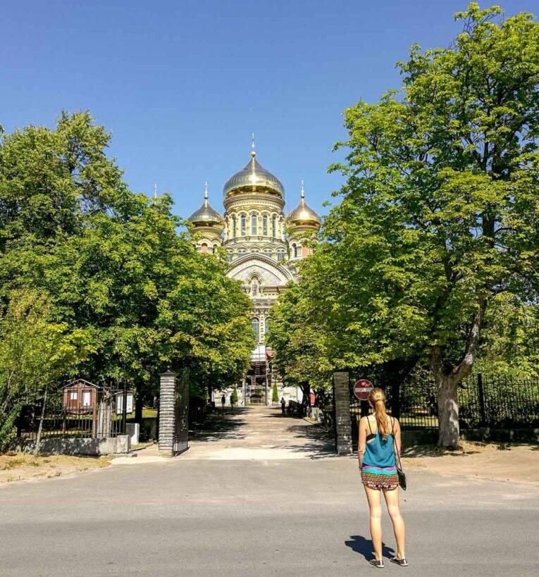 A Catedral Naval de São Nicolas em Karosta, Liepaja. - viagem pela letonia