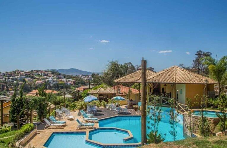 Piscina do Hotel Vila Chico em São Lourenço. Foto: divulgação.