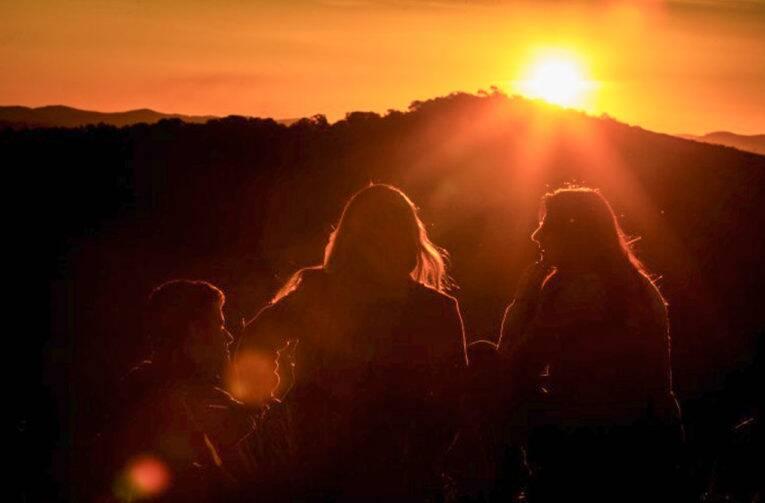 Pôr do sol em Minas Gerais.