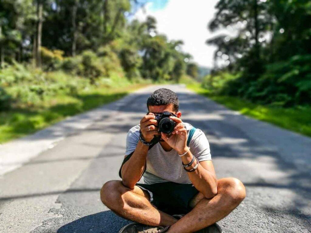 Pausa para uma foto das paisagens que esse mundo nos proporciona.