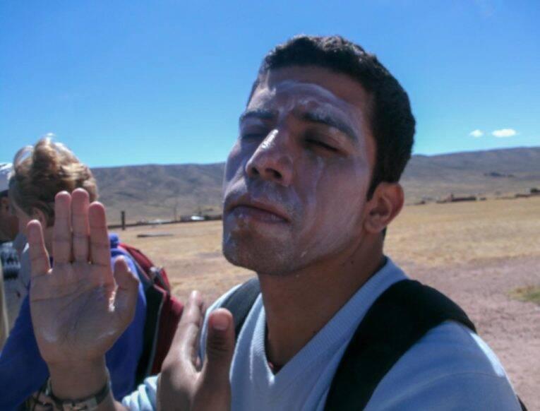Exagerando no protetor solar na Bolívia?!