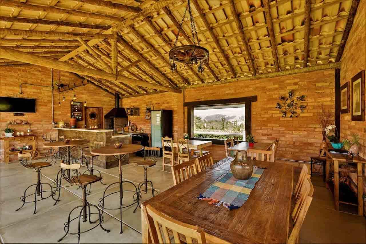 Espaço gourmet do Airbnb em Bom Jesus dos Perdões.