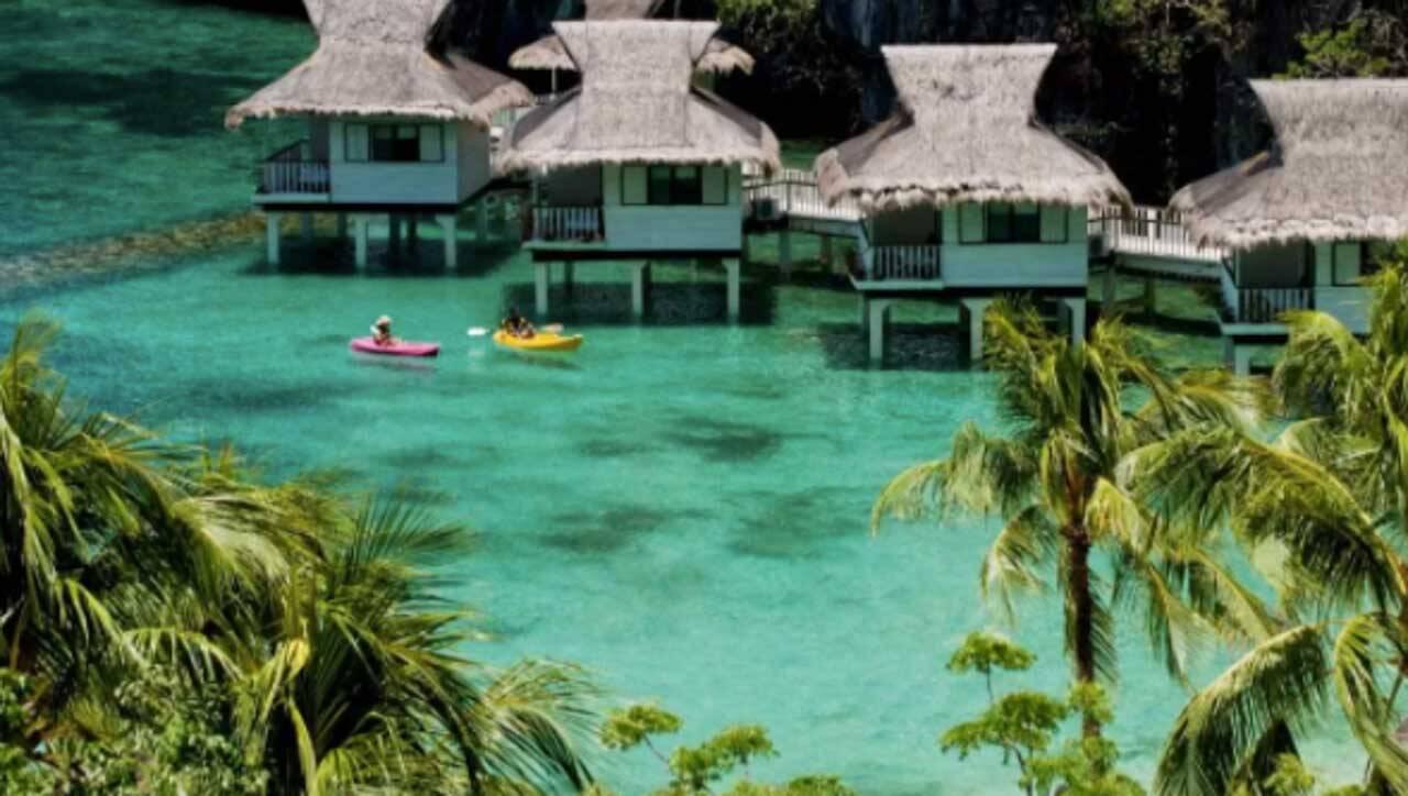 O famoso El Nido Resorts Miniloc Island em El Nido.