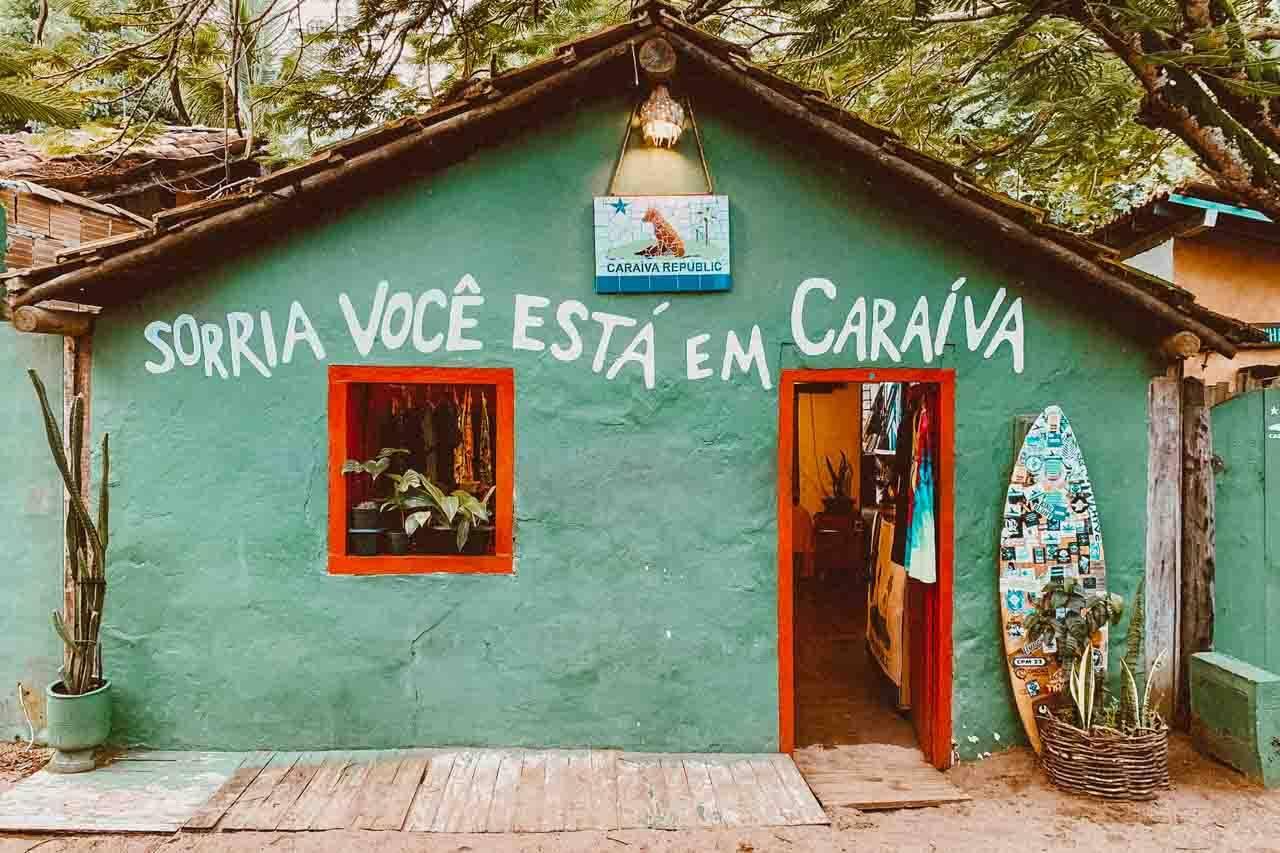 Casinha famosa na vilinha de Caraíva.