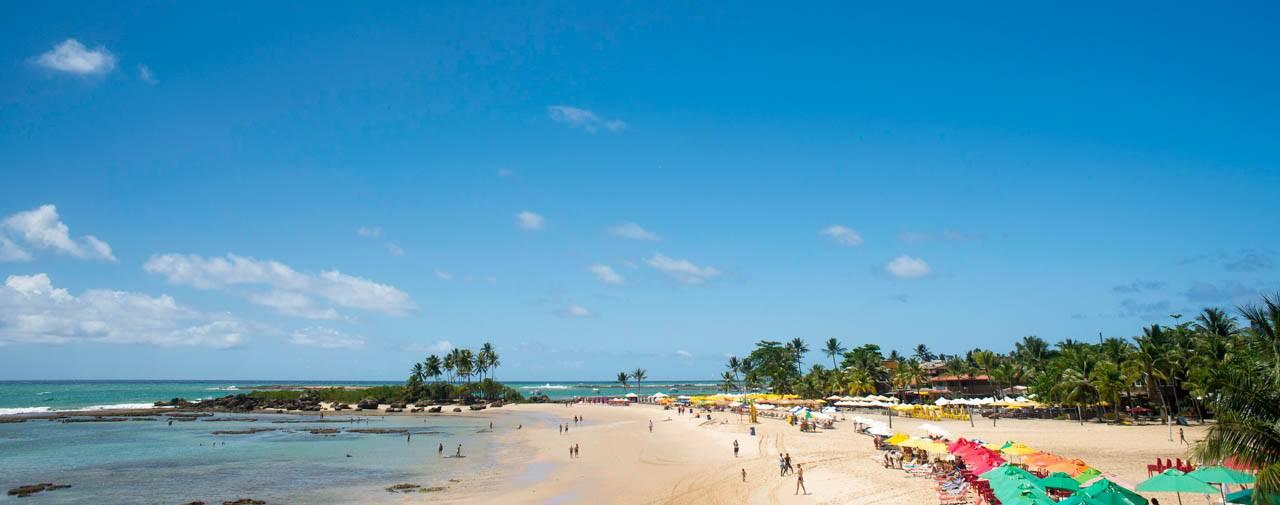 Primeira praia em Morro de São Paulo Bahia Brasil