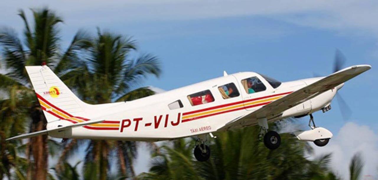 Avião teco teco para viagens curtas e taxi aéreo no Nordeste Brasileiro.