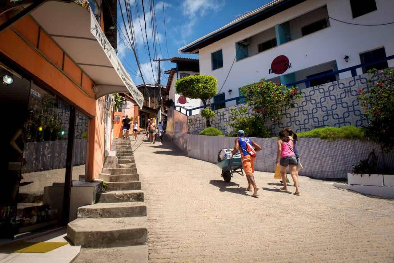 Vila de Morro de São Paulo Bahia Brasil