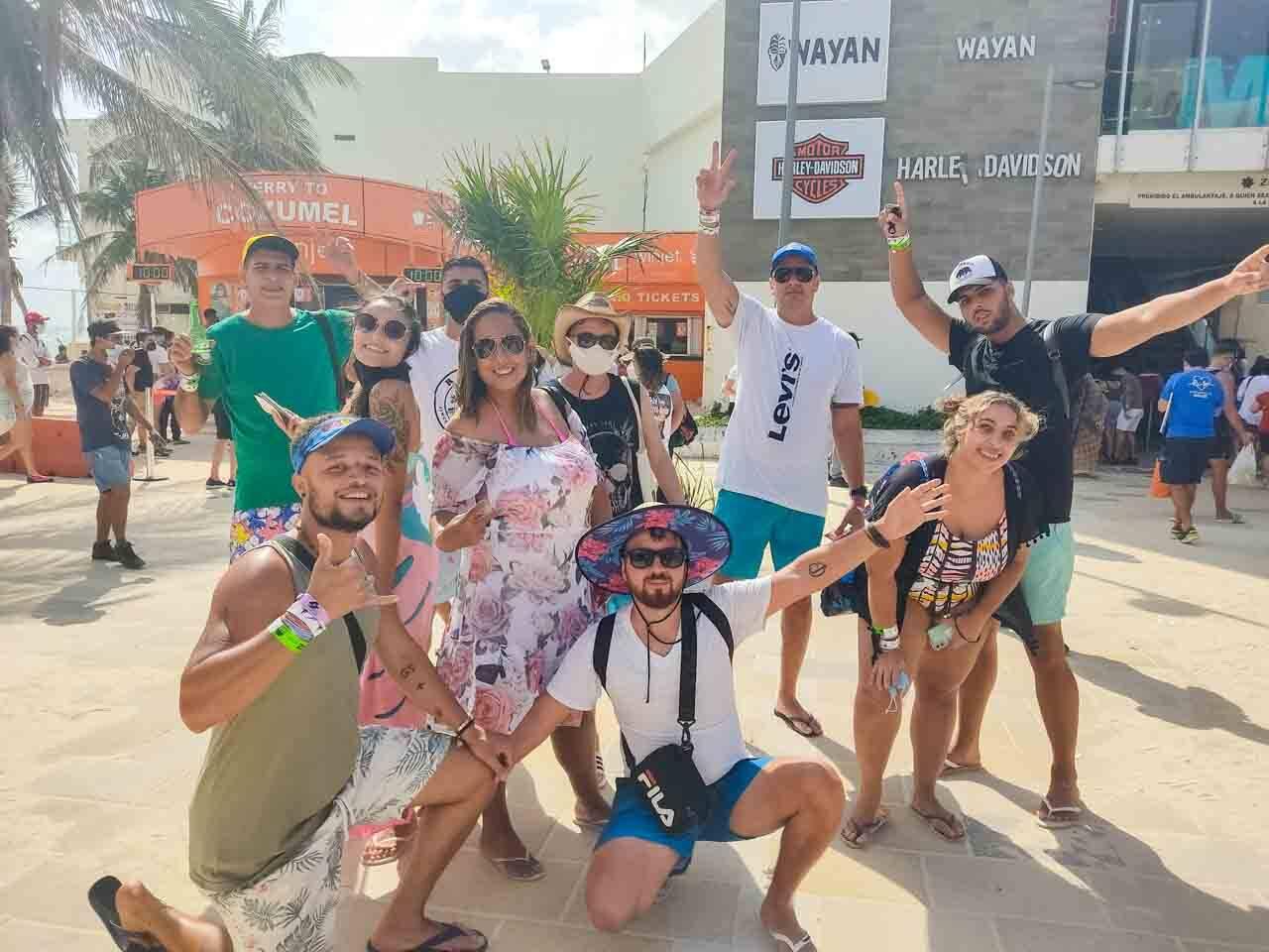 Turma na viagem para o México com o Pacote Hurb Cancun.