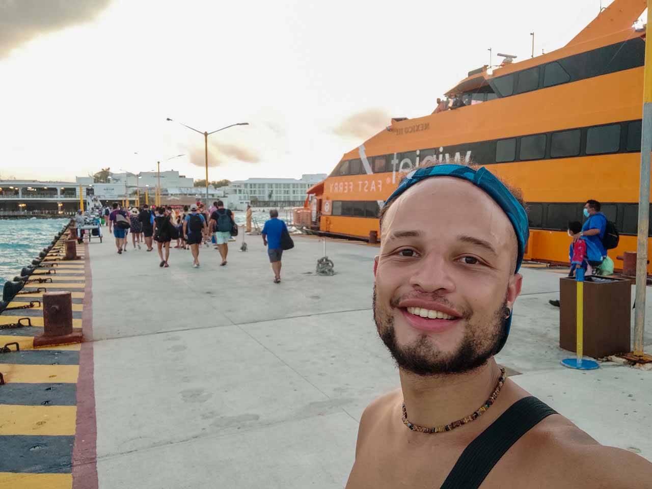 Will curtindo sua viagem em Cancún, no México
