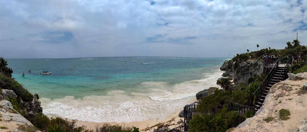 Praia paradisíaca em Cancun no México visitada com o Pacote Hurb Cancun