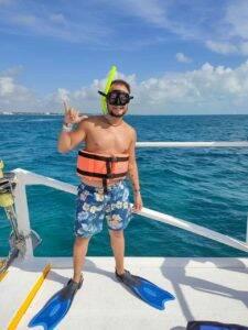 No passeio de barco em Cancun que não está incluso no Pacote Hurb Cancun, é um gasto extra