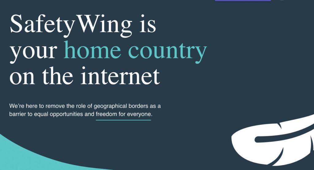 SafetyWing é o seu país na internet