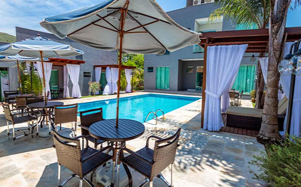 Hotel com piscina em Capitólio, MG.