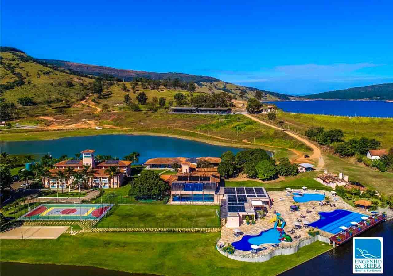 Vista de cima do Engenho da Serra Hotel e EcoResort, lugar perfeito para famílias.