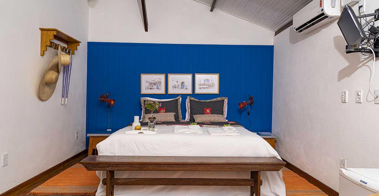 Cada cantinho da Pousada Cachoeira Lagoa Azul tem uma decoração delicada e harmoniosa.