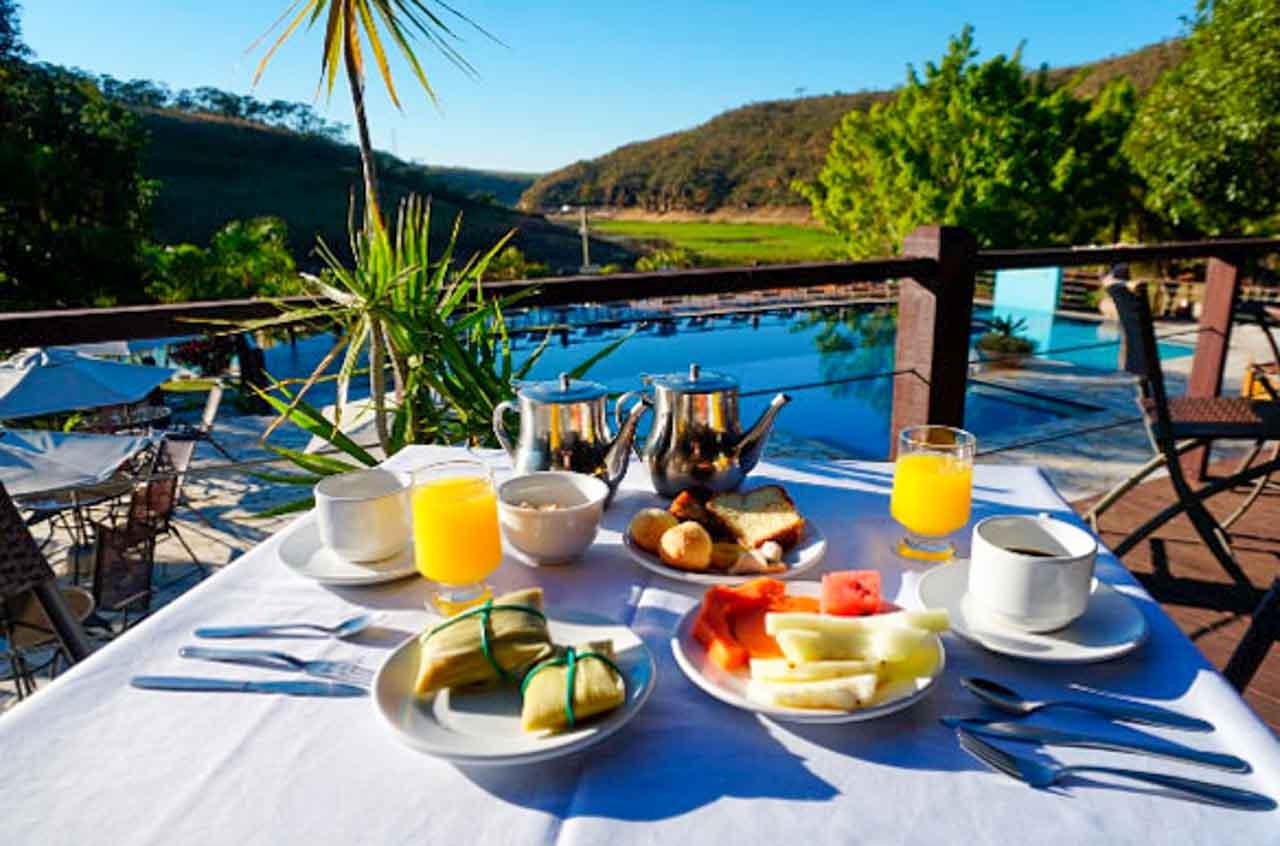 Depois de um café da manhã desses você estará mais que pronta para explorar as belezas de Capitólio.